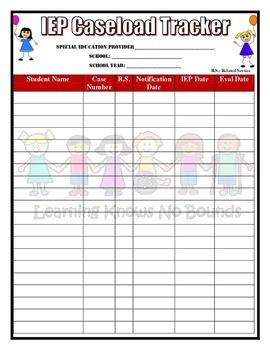 IEP Caseload Tracker (Special Education Teacher)