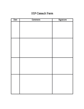 IEP Consult Form