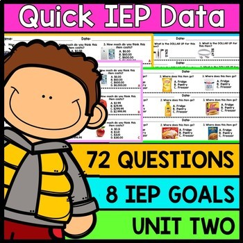 IEP Goal Assessments - PRINT & GO - Special Education - Li