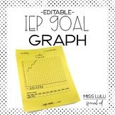 IEP Goal Graph {Editable}