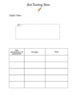 IEP Goal Tracking Form