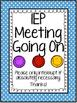 IEP Meeting Inside Posters