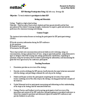 IEP Meetings Participation Using Self-Advocacy Strategy (3)