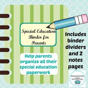 IEP Parent Binder