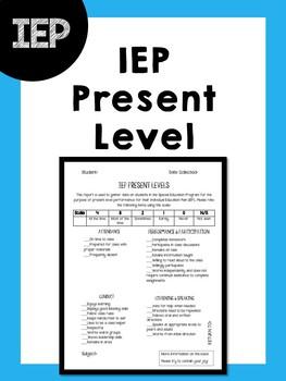 IEP Present Level