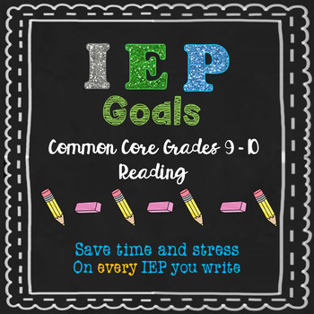 IEP Reading Goals 9 and 10