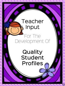 IEP Teacher Handout Form