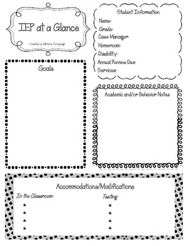 IEP at a Glance (PDF type-in form)