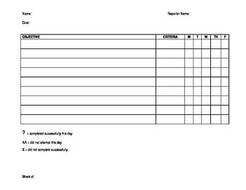 IEP benchmark tracking sheet