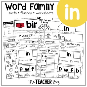 IN Word Family Activities
