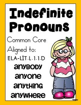 Indefinite Pronouns: Anyone, Anybody, Anywhere, Anything