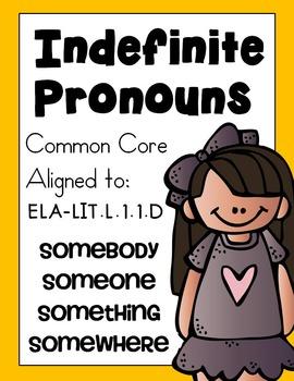 Indefinite Pronouns: Someone, Somebody, Somewhere, Something
