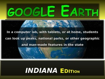 """""""INDIANA"""" GOOGLE EARTH Engaging Geography Assignment (PPT"""
