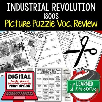 INDUSTRIAL REVOLUTION 1800 Picture Puzzle Unit Review, Stu