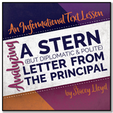 INFORMATIONAL TEXT LESSON{Analyzing A Letter from a Principal}