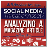INFORMATIONAL TEXT LESSON {Analyzing A Magazine Article: S