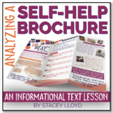 INFORMATIONAL TEXT LESSON {Analyzing A Self-Help Brochure}