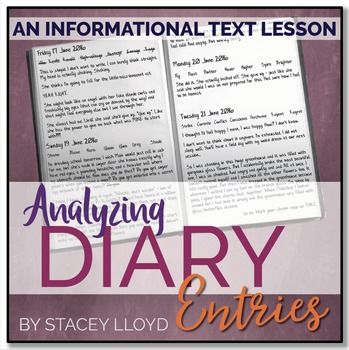 INFORMATIONAL TEXT LESSON {Diary Entries: Analyzing Tone,