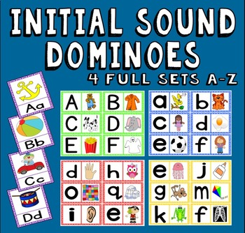 INITIAL SOUNDS DOMINOES -LITERACY EARLY YEARS EYFS KS1 ENG