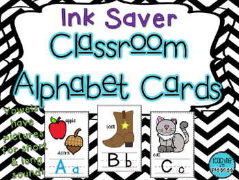 INK SAVER Classroom Alphabet Cards