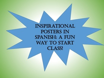 Unique Warmup for Spanish Class: Inspirational Posters of
