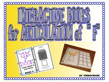 """SPEECH THERAPY INTERACTIVE BOOKS for ARTICULATION of """"F"""""""