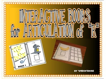 "SPEECH THERAPY INTERACTIVE BOOKS for ARTICULATION of ""R &"