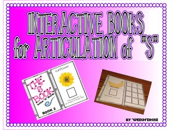 "SPEECH THERAPY INTERACTIVE BOOKS for ARTICULATION of ""S"""