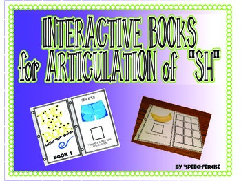 "SPEECH THERAPY INTERACTIVE BOOKS for ARTICULATION of ""SH"""