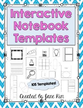 INTERACTIVE NOTEBOOK TEMPLATES: 105 TEMPLATES!