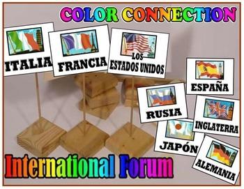 A~SPANISH~INTERNATIONAL FORUM~pronouns verbs vocabulary IN