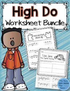 Music Worksheet Bundle: High Do