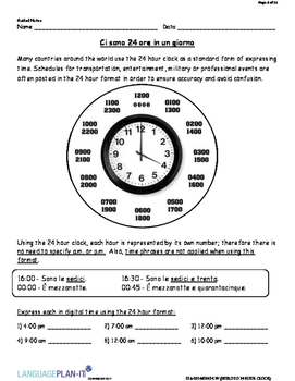 INTRO TO 24 HOUR CLOCK (ITALIAN 2017 EDITION)