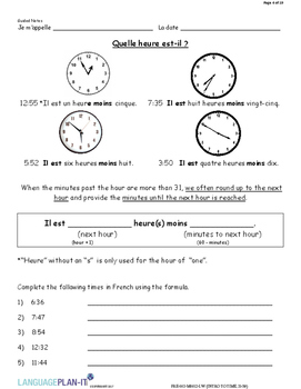 INTRO TO TIME 31-59 (FRENCH 2017 EDITION)