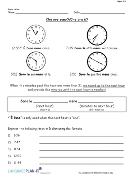 INTRO TO TIME 31-59 (ITALIAN 2017 EDITION)