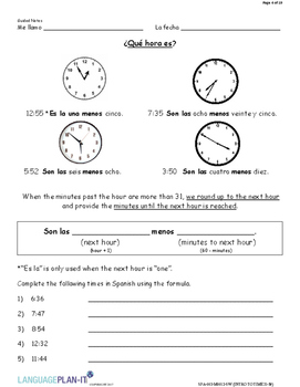 INTRO TO TIME 31-59 (SPANISH 2017 EDITION)
