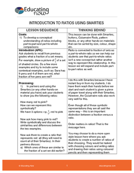 INTRODUCTION TO RATIOS USING SMARTIES