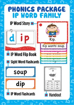 'IP WORD FAMILY' Phonics Lesson Package