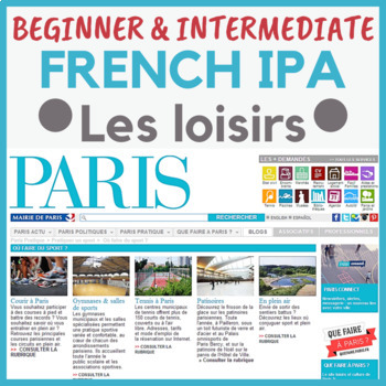 IPA French francais leisure time past time activities