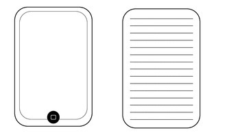 IPAD/IPOD Template with writing page