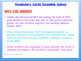 IPC/ Physical Science Vocabulary Scramble Game: Organizati