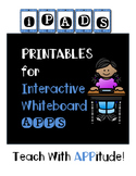 IPad Interactive Whiteboard App PRINTABLES for Upper Grade