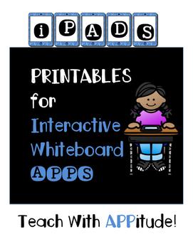 IPad Interactive Whiteboard App PRINTABLES for Upper Grade