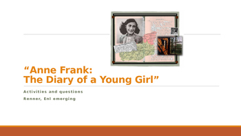 IR Diary of Anne Frank Questions and Activities - Ch. 1,2