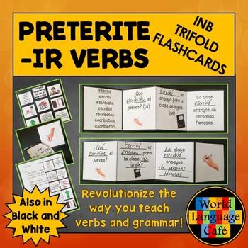 IR Preterite Verbs Spanish Interactive Notebook Trifold Fl