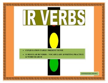 IR Verbs in Spanish- Conjugation Table Present Tense/Pract