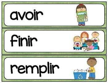IR verb word wall