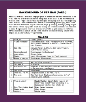 IRAN LEARNING PACK WITH SURVIVAL PERSIAN, FUN WORD SEARCHES ETC
