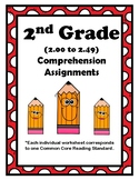 2nd Gr. 2.00-2.49 Comprehension Assignments Alligned to Am