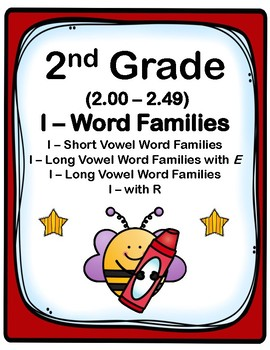 2nd Grade 2.00-2.49 I-Word Families Cards (Aligned to Amer